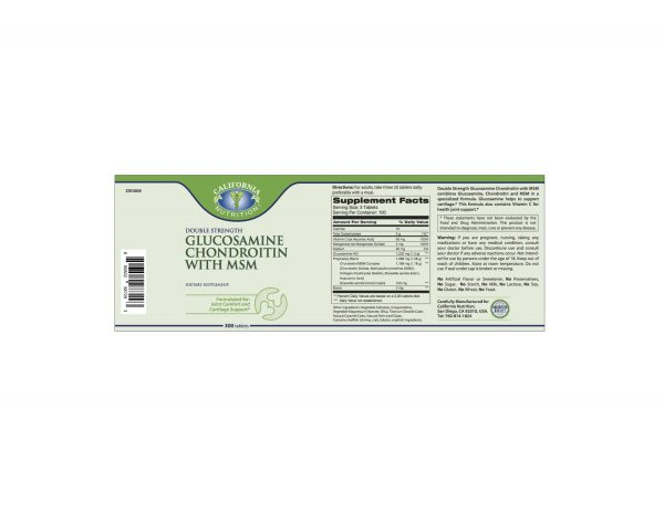 Glucosamine Label